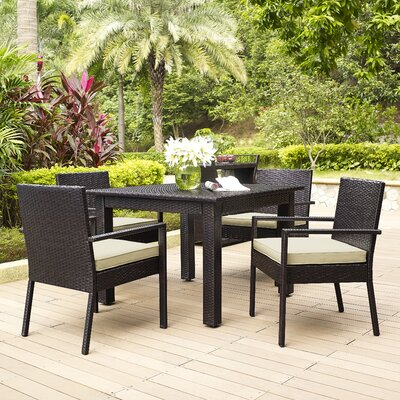 Belton 5 Piece Dining Set with Cushions