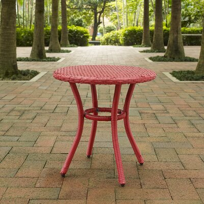 Belton Round Side Table Finish: Red