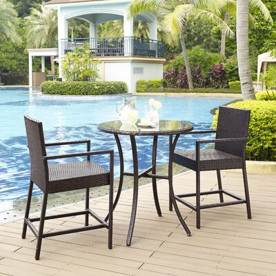 Belton 3 Piece Bar Height Dining Set