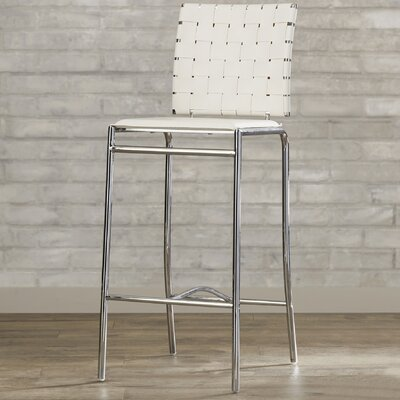 Whitehall 26 Bar Stool Upholstery: White