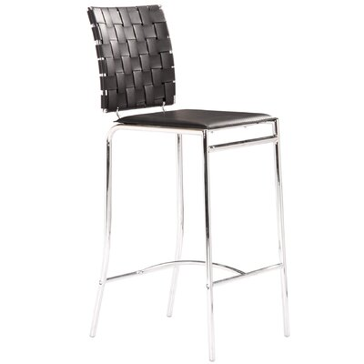 Whitehall 26 Bar Stool Upholstery: Black