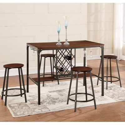 Bayer 5-Piece Pub Table Set