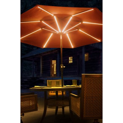 9' Llanes Illuminated Umbrella