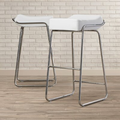 Ramiro 32 Bar Stool Cushion color: White