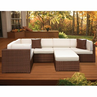 Lorentzen 6 Piece Deep Seating Group with Cushion Fabric: Off-White