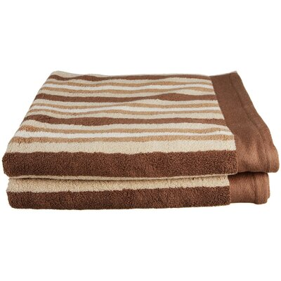 Stripes Bath Towel Color: Chocolate