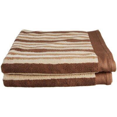 Lorentz Stripes Bath Towel Color: Chocolate