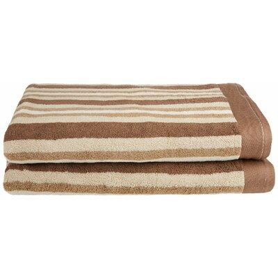 Stripes Bath Sheet Color: Chocolate