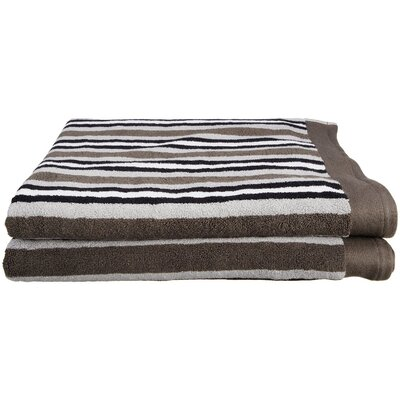Lorentz Stripes Bath Sheet Color: Charcoal