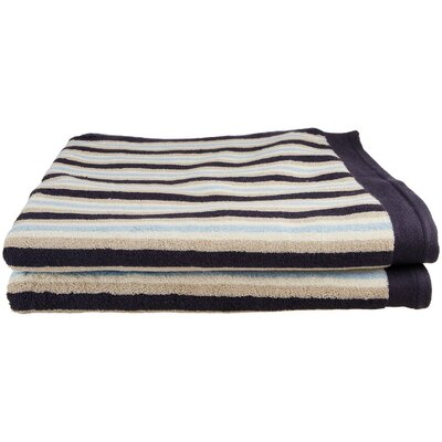 Stripes Bath Sheet Color: Blue