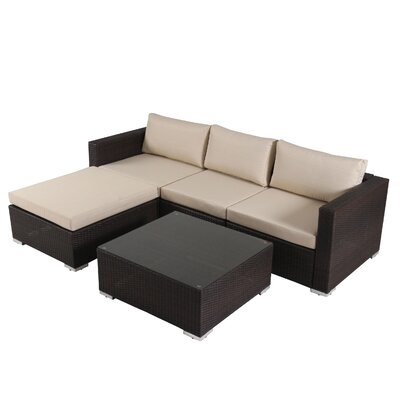 Murillo 5 Piece Seating Group Finish: Multibrown
