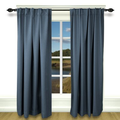 Louie Back Tab Rod Pocket Blackout Single Curtain Panel