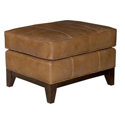 Mcnab Leather Ottoman Color: Medium Brown