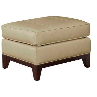 Mcnab Leather Ottoman Color: Dove