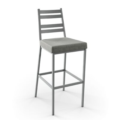 Lovato 30 inch Bar Stool Finish: Glossy Grey/Medium Grey