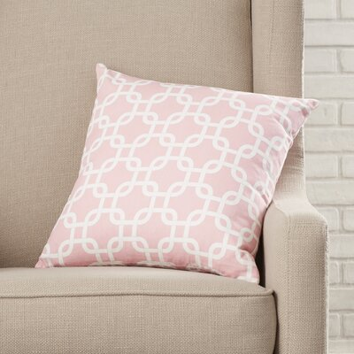 Sessums 100% Cotton Throw Pillow Color: Baby Pink, Size: 20 H x 20 W