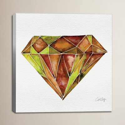 Fire Opal Artprint by Cat Coquillette Painting Print on Wrapped Canvas