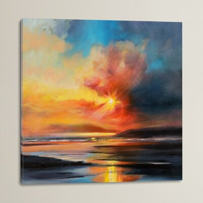 Emerging Sun by Scott Naismith Painting Print on Wrapped Canvas Size: 18