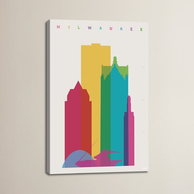 Miwaukee by Yoni Alter Graphic Art on Wrapped Canvas Size: 12