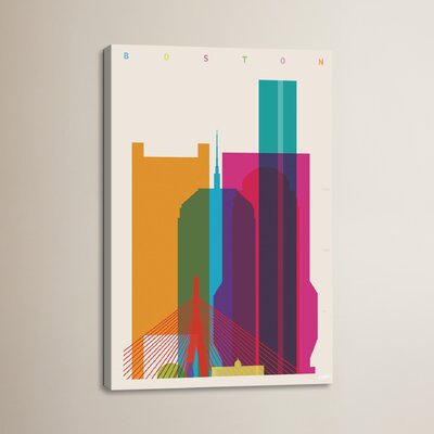 Boston by Yoni Alter Graphic Art on Wrapped Canvas