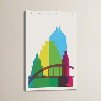Austin by Yoni Alter Graphic Art on Wrapped Canvas