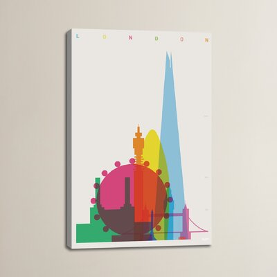 London by Yoni Alter Graphic Art on Wrapped Canvas Size: 12