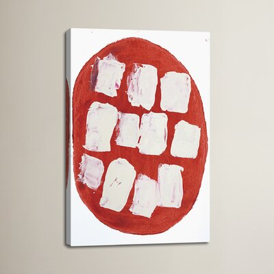 I Like Pizza by Heather Chontos Painting Print on Wrapped Canvas