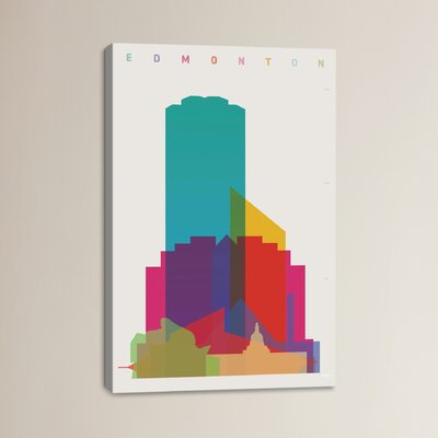 Edmonton by Yoni Alter Graphic Art on Wrapped Canvas