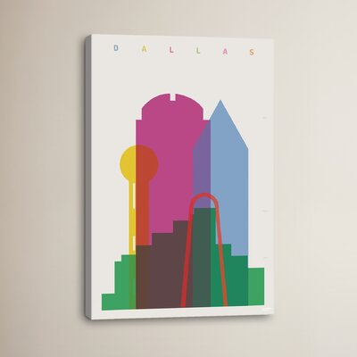 Dallas by Yoni Alter Graphic Art on Wrapped Canvas