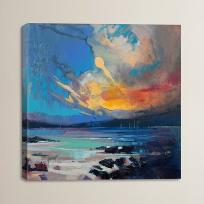 Blustery Sky Hebrides by Scott Naismith Painting Print on Wrapped Canvas
