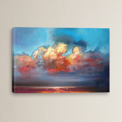 Vermillion Cumulus by Scott Naismith Painting Print on Wrapped Canvas Size: 12