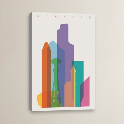 Seattle by Yoni Alter Graphic Art on Wrapped Canvas