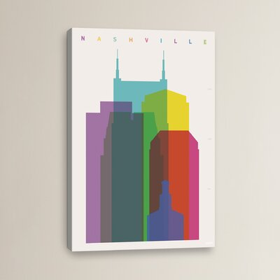 Nashville by Yoni Alter Graphic Art on Wrapped Canvas