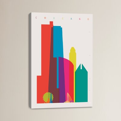 Chicago by Yoni Alter Graphic Art on Wrapped Canvas Size: 12