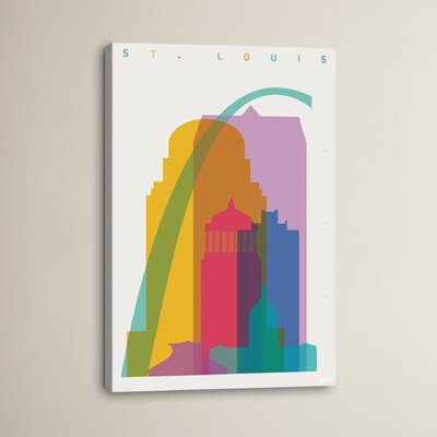 St. Louis by Yoni Alter Graphic Art on Wrapped Canvas Size: 12