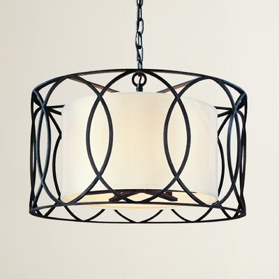 Balducci 5-Light Drum Pendant Finish: Deep Bronze