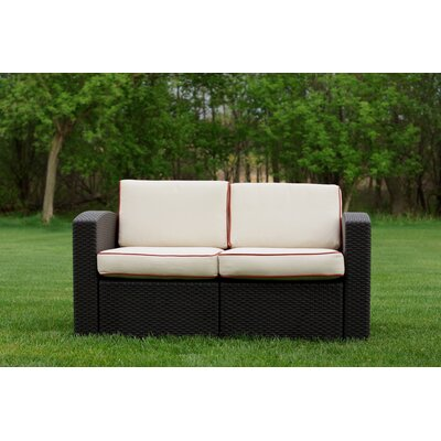 Loggins Loveseat with Cushions Fabric: Ivory