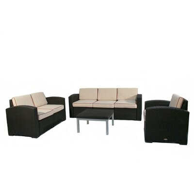 Loggins 4 Piece Sofa Seating Group with Cushion
