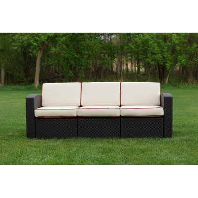 Loggins Patio Sofa with Cushion Fabric: Ivory