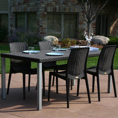 Loggins 5 Piece Dining Set Finish: Brown