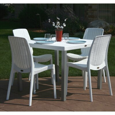 Loggins 5 Piece Dining Set Finish: White