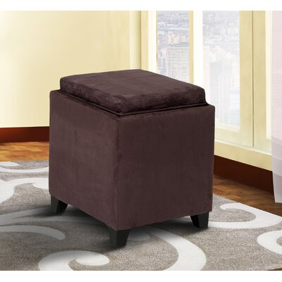 Nicholson Cube Storage Ottoman Upholstery: Eggplant
