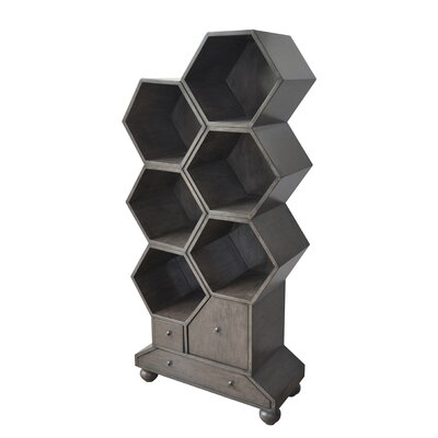 Westgate Longworth Drawer Slate Hexagon Accent Shelves Bookcase 444 Product Photo