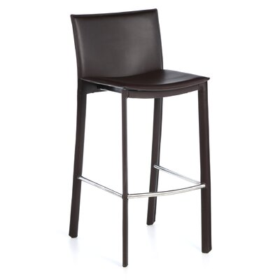 Berggren 30 Bar Stool Upholstery: Dark Brown