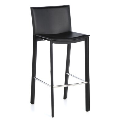 Berggren 30 Bar Stool Upholstery: Black