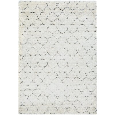 Arona Snow/Brown Area Rug Rug Size: 53 x 77