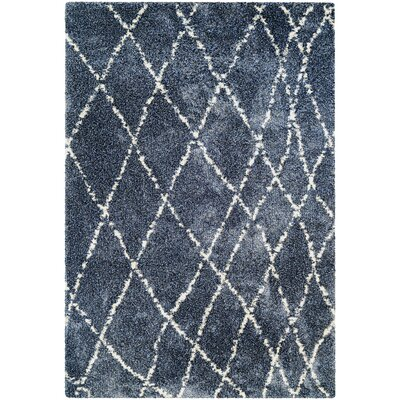 Arona Blue/Snow Area Rug Rug Size: Rectangle 92 x 129