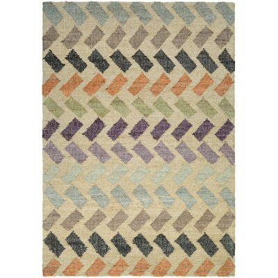 Lopp Hand Woven Beige Area Rug Rug Size: Rectangle 53 x 76