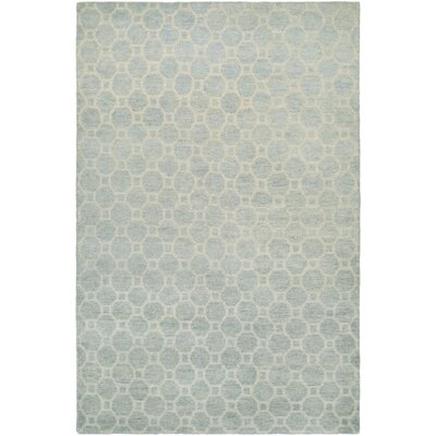 Lopresti Hand-Knotted Ivory/Light Blue Area Rug Rug Size: Rectangle 2' x 4'