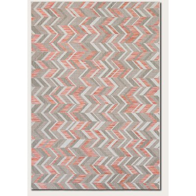 Loranger Red/Gray Indoor/Outdoor Area Rug Rug Size: 53 x 76